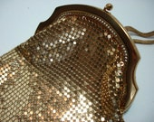 Vintage Gold Metal Mesh Cigarette Pouch by Whiting and Davis