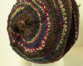 Men or Women's Variegated Merino Wool Slouchy Tam Hat