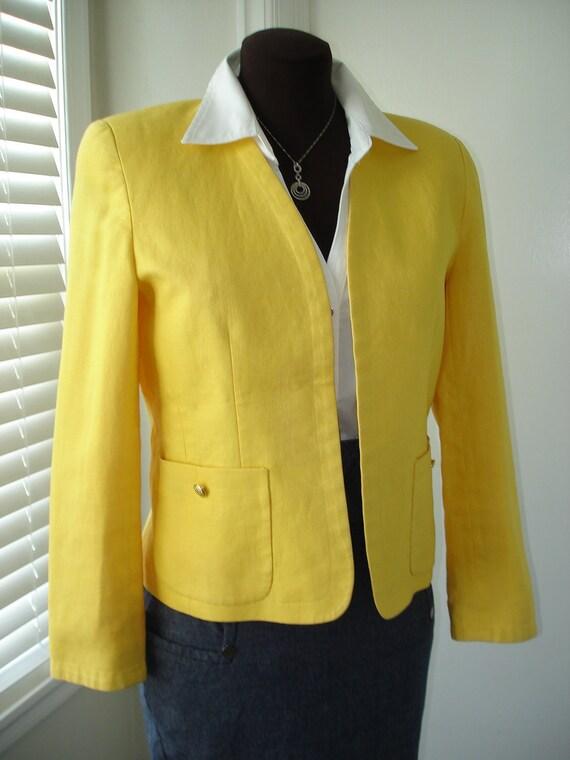 Sunflower Yellow Linen Jacket Blazer