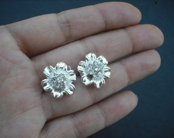 SALE - Lily Collection, Bridal Earrings, Rhinestone Crystal earrings, Vintage Style Bridal Earrings, Weddng Jewelry