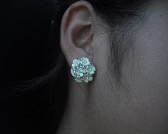 Gabriella Collection, Bridal Earrings, Rhinestone Crystal Flower Earrings, Vintage Style Bridal Earrings, Weddng Jewelry