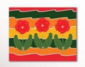 Printable PDF Wall Art Flowers Print, Nursery Design 8x10