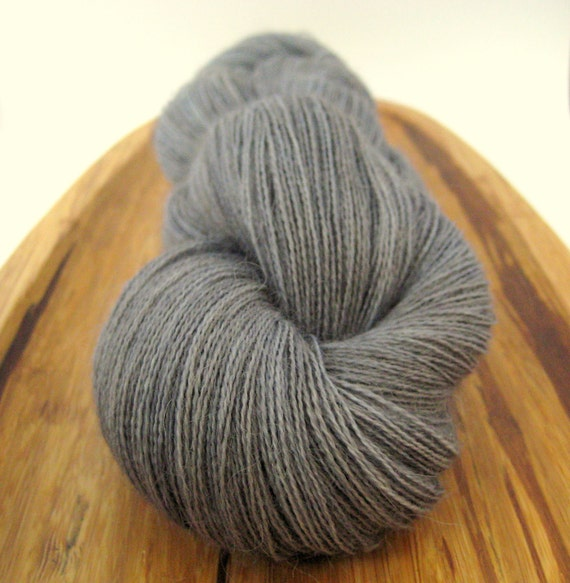 Alpaca lace - Clapboard Houses OOAK, hand-dyed 100% superfine alpaca, 2-ply, 990 yds