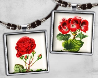 1x1inch Digital Collage Sheet - Printable Download for pendants, magnets or scrapbooking - instant download -  SIMPLY FLOWERS