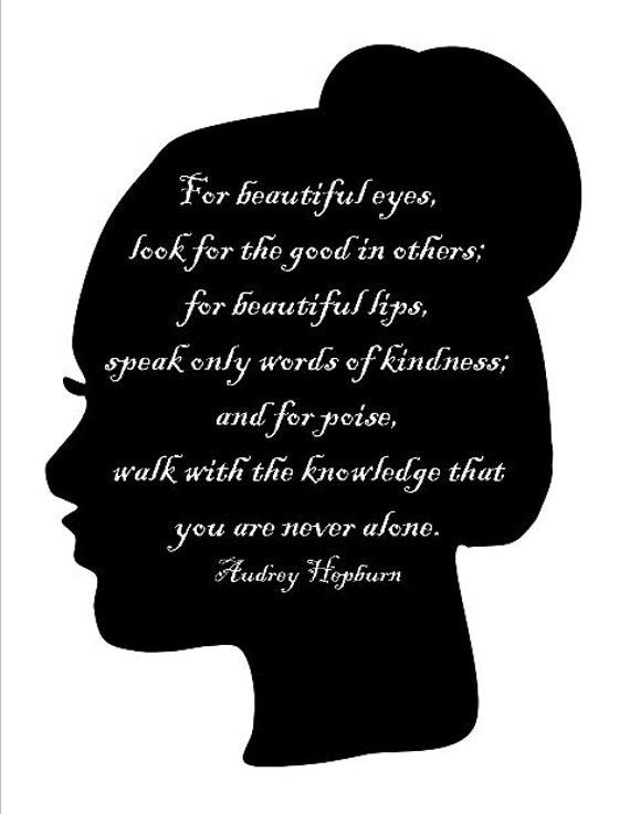 Items similar to Beautiful- Printable Audrey Hepburn Quote