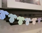 Mini bunting Banner Garland Baby Shower Onesies Decoration