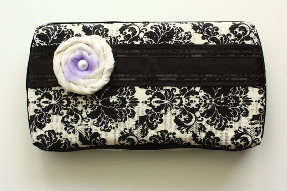 Baby Wipes Case- Stylish and trendy baby wipes cover - for girls, stunning black and cream pattern.