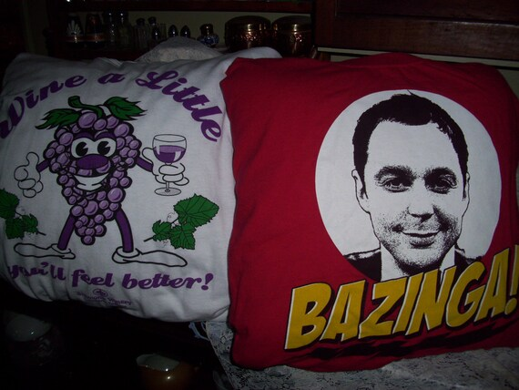 Handmade DECORATIVE PILLOWS Made From Your Up-Cycled TeeShirt or Sweatshirt, Unique Keepsake in Sm, Med, Large