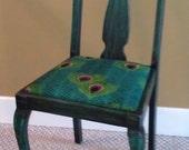 Peacock Fabric Chair