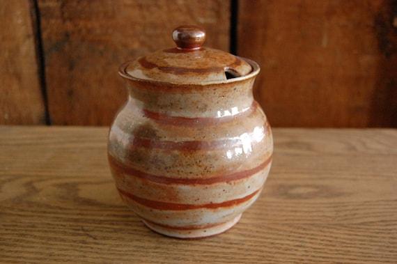a honey-colored honey pot RESERVED for Bobbi Estabrook