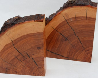 Pecan Wood Bookends