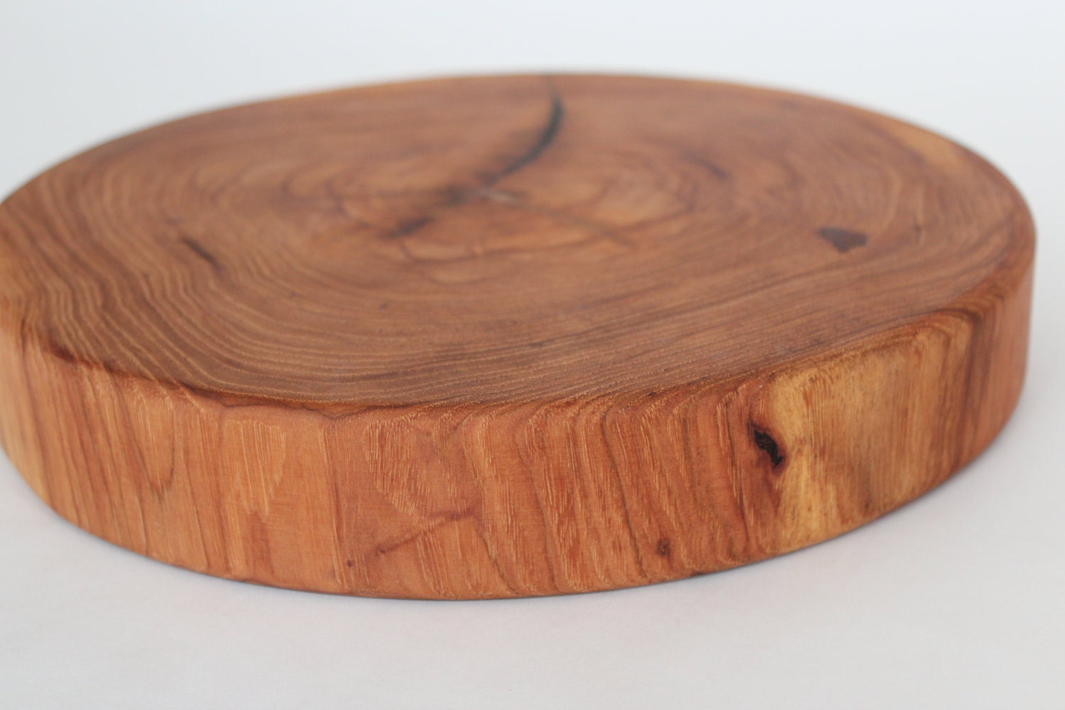 Round wooden centerpiece by tinroofcuttingboards on etsy