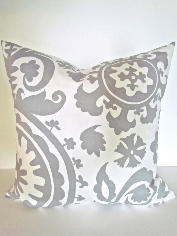 Gray Throw Pillow Covers : GRAY PILLOW 20x20 Throw Pillow Covers by SayItWithPillows on Etsy