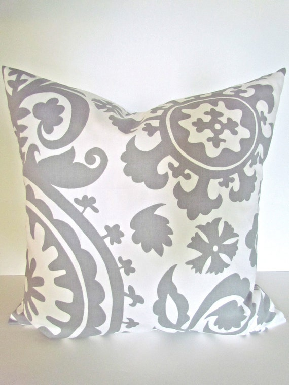 20x20 Throw Pillows Covers : GRAY PILLOW 20x20 Throw Pillow Covers by SayItWithPillows on Etsy
