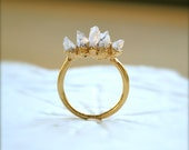 Amethyst Spike Gold Ring Last One Left Size 6