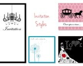 Custom made to order Wedding or other Invitation Graphic and text