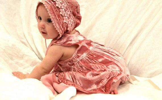 Velvet Little Princesses Jumper---baby dress. little girls Jumper. velvet girl dress. baby jumper. special occasion baby dress. shower gift.