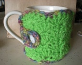 coffee cozy with matching coasters.
