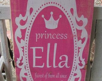 Custom Distressed Wood Girls Name Sign
