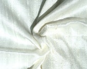 Half Yard Beige Off white Ivory Dupioni Silk Blend Indian