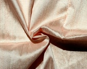 Half Yard Peach White Ivory Dupioni Silk Blend Indian