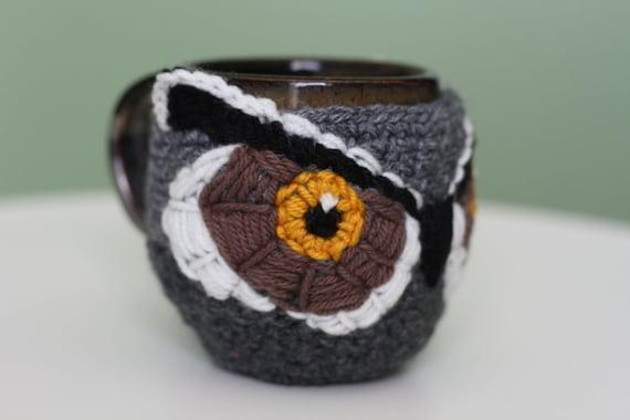 Crochet Owl Mug Coaster Cozy (Ready to Ship)