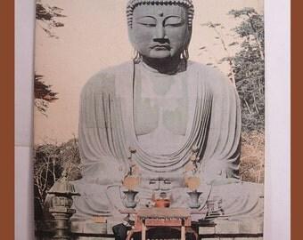 Vintage Japan postcard Daibutsu Kamakura Great Buddha