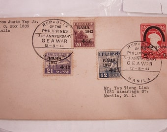 WW11 1st Day Cover Postal History with  Stamp