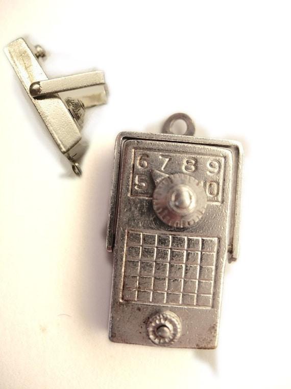 Vintage Sterling Mechanical Radio Charm