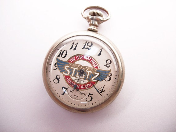Vintage Stutz Bearcat Working Pocket Watch Indianapolis 500 Race pocketwatch