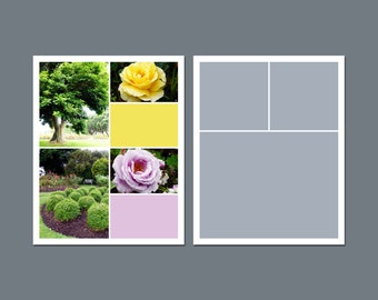 INSTANT DOWNLOAD - Digital Template, Photo Template, Storyboard Template - 8 x 10 - Template Pack - No.1
