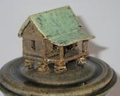 Wheel Thrown and hand-built farm house Canister- 1205ja002