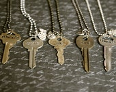 The Journey Key: A unique, one of a kind vintage key, hand stamped with a one word affirmation created into a necklace