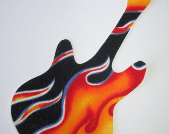 Iron-On Guitar Applique - Flames
