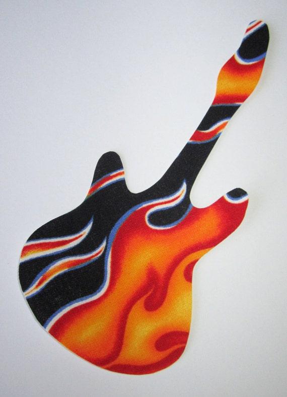 Iron-On Guitar Applique - Flames
