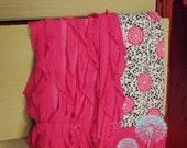 Hot Pink Ruffled Receiving Blanket