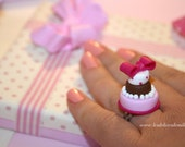 Polka Dot Miniature Wedding Cake Ring