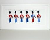 Toy soldiers art print - Different drummer illustration with Thoreau quote