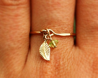 Gold thin ring, tiny ring, delicate gold ring
