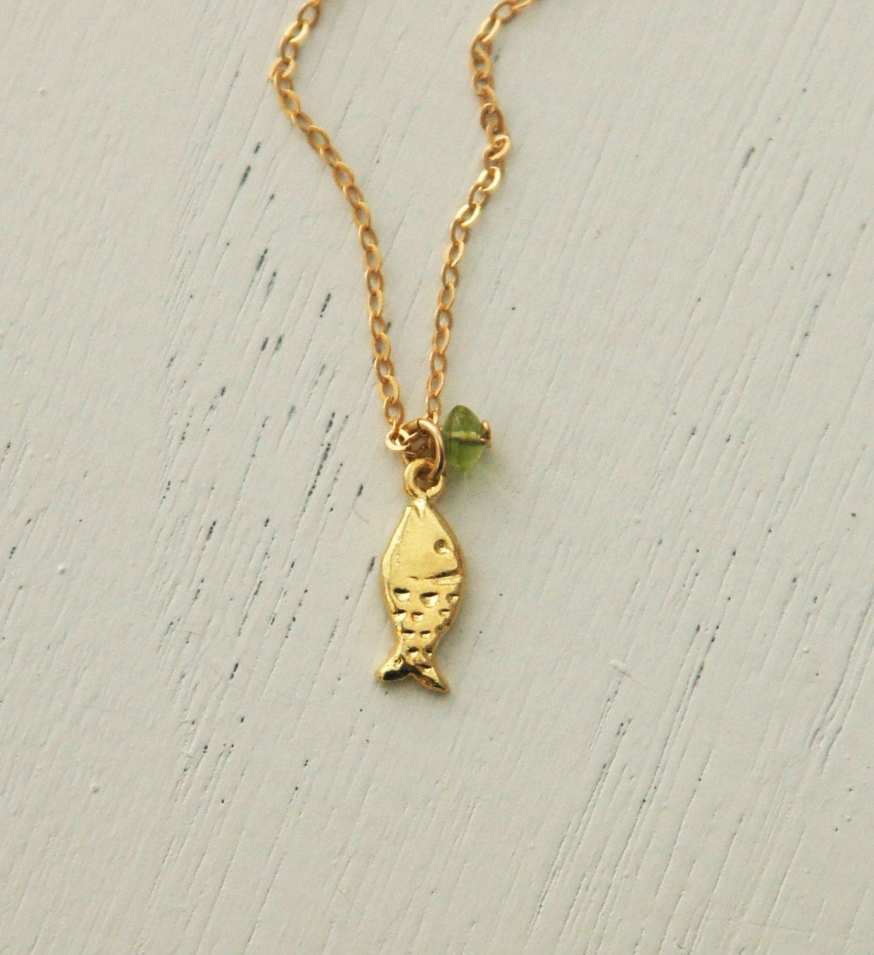 Tiny charm necklace lucky gold fish charm pendant gold for Gold fish charm