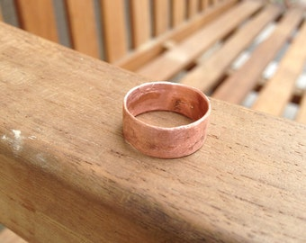 Simple Copper Ring - Rustic Yet Elegant