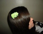 Greens and Yellows Ribbon Cluster Bow