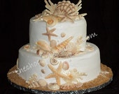 Monterey Bay 40 a collection of 40 white chocolate seashells for your wedding cake