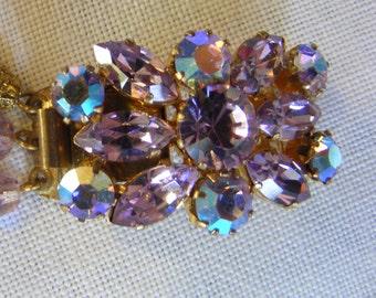mauve vintage glass bracelet