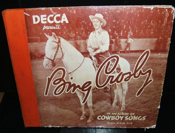 Bing Crosby Decca Cowboy  Record Cover Number 69