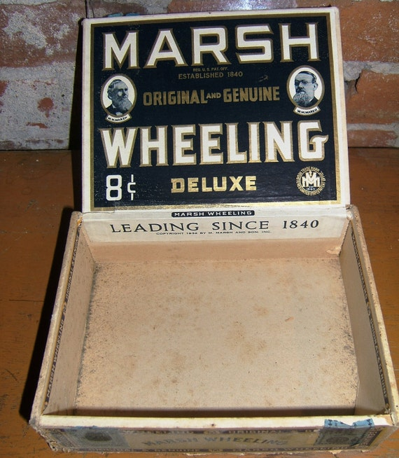 Marsh Wheeling Union Made Stogie Cigar Box