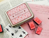 Ballerina Rubber Stamp set - sale - for your paper craft project or deco