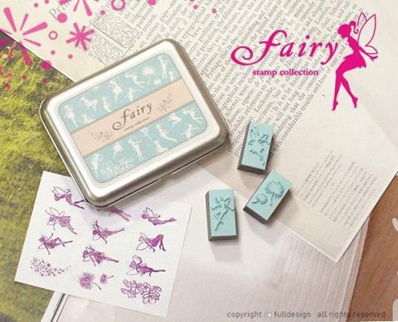 Fairy Rubber Stamp set -  Sale - for your paper craft project or deco