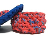 HOLIDAYS SALE -Eco friendly tarn bowl  t-yarn crochet jewelry box ready to ship cristmas women gift