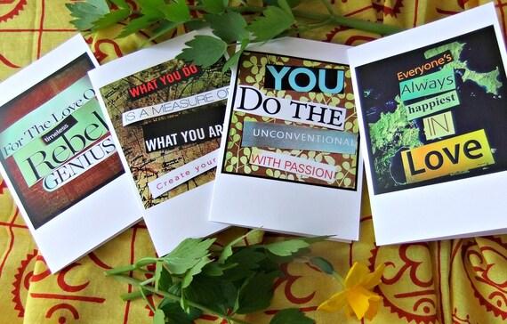 Rebel Love : Inspirational Notecards (blank inside) Set of 4